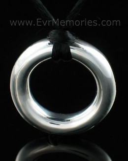 Sterling Silver Eternity Cremation Keepsake