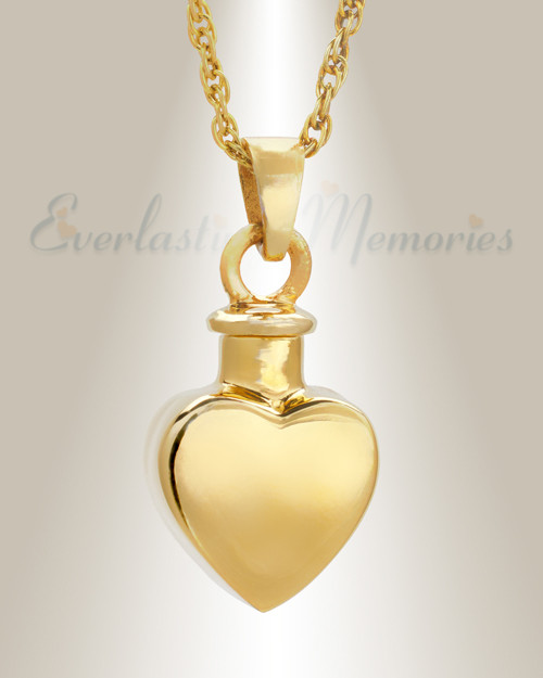 You can customize this 14k gold cremation heart keepsake 14k gold small heart pendant memorial locket aloadofball Image collections