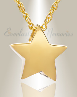 Sliding Star Gold Plated Cremation Urn Keepsake