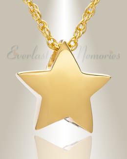 Sliding Star Gold Plated Cremation Urn Keepsake