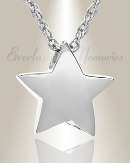 Sliding Star Sterling Silver Cremation Urn Keepsake