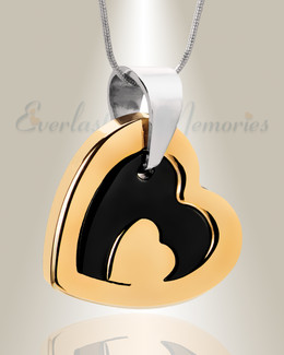 Gold Plated Honesty Heart Necklace Urn