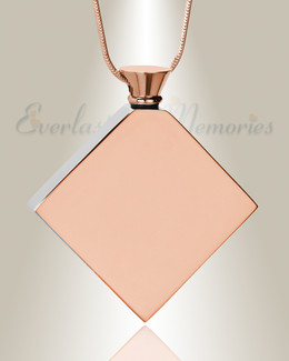 Rose Gold Quaint Diamond Urn Pendant