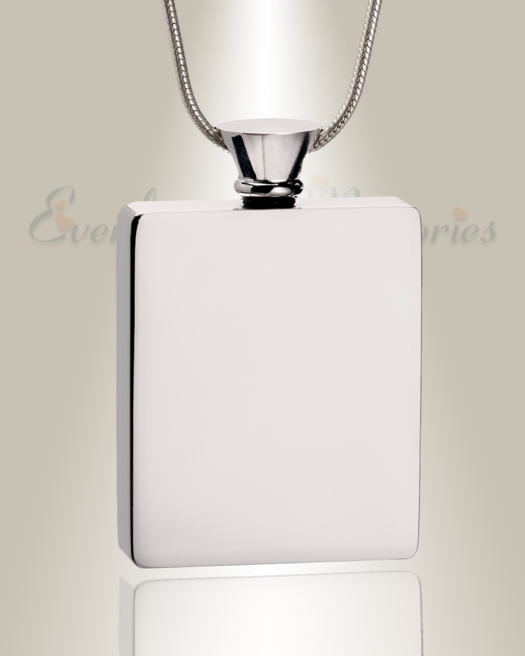 poem urn stainless pendant cremation product steel cylinder j chain with