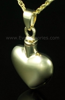 14K Gold Plated Whole Heart Urn Necklace