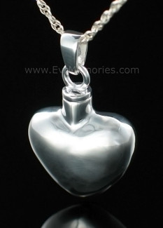Sterling Silver Whole Heart Memorial Locket