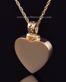 14K Gold Plated Grand Heart Urn Necklace