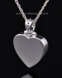 Sterling Silver Grand Heart Memorial Locket