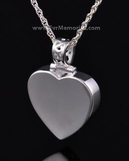 Sterling Silver Grand Heart Memorial Locket