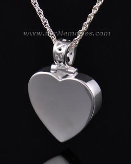 14K White Gold Grand Heart Remembrance Pendant