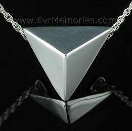 Sterling Silver Triangle Funeral Jewelry