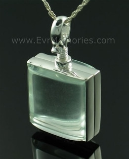 Square Glass Memorial Memorial Locket