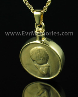"Gold Vermeil ""Boy"" Urn Keepsake"
