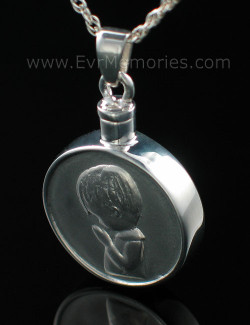 "Sterling Silver ""Boy"" Cremation Urn Keepsake"