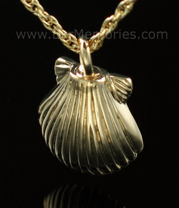 14K Gold Plated Sea Shell Memorial Locket