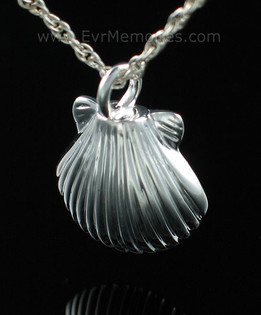 Silver Sea Shell Urn Keepsake