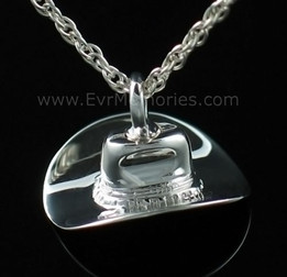 Hat Cremation Urn Keepsake Sterling Silver