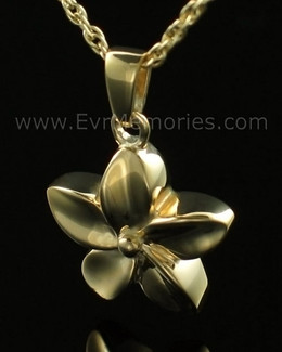 14K Gold Plated Flower Jewelry Urn