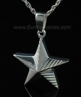 Sterling Silver Military Star Memorial Locket