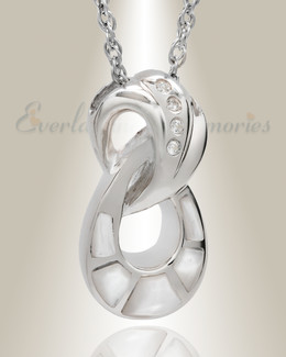 Sterling Silver Everlasting Infinity Keepsake