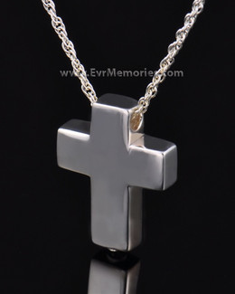 Sterling Silver Sliding Cross Urn Keepsake