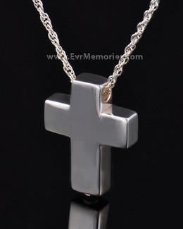 Sterling Silver Sliding Cross Urn Keepsake