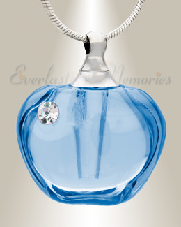 Glass Locket Blue Passion Cremation Pendant