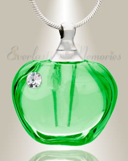 Glass Locket Green Passion Cremation Pendant