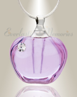 Glass Locket Violet Dusk Remembrance Jewelry