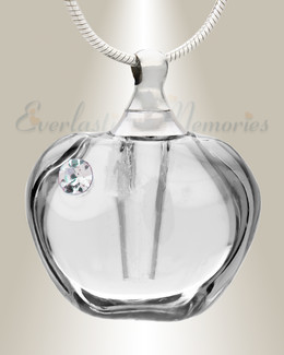 Glass Locket Dawn Cremation Charm