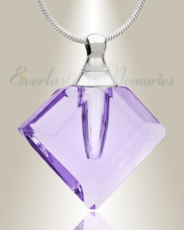 Glass Locket Violet Joy Necklace Urn