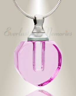 Glass Locket Eternal Teardrop Necklace Urn
