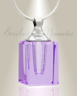 Glass Locket Violet Contentment Jewelry Urn