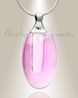 Glass Locket Pink Evermore Cremation Jewelry