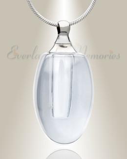 Glass Locket Clear Evermore Keepsake Urn Jewelry
