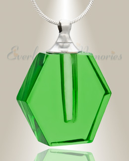 Glass Locket Emerald Integrity Pendant Keepsake