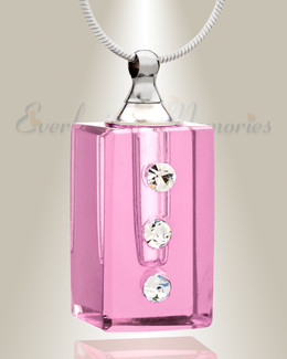 Glass Locket Pink Reliable Cremains Pendant