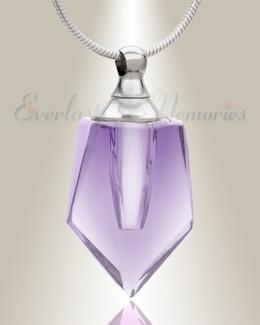 Glass Locket Violet Dedicated Cremation Jewelry