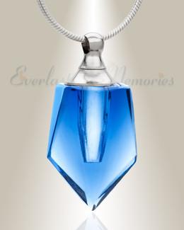 Glass Locket Dark Blue Dedicated Cremation Pendant