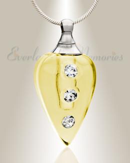 Glass Locket Yellow Merriment Locket Necklace