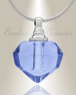 Glass Locket Blue Joyous Cremation Jewelry