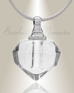 Glass Locket Clear Joyous Cremation Jewelry