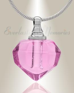 Glass Locket Pink Joyous Cremation Jewelry