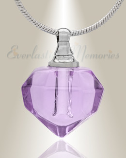Glass Locket Violet Joyous Cremation Jewelry