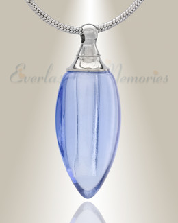 Glass Locket Blue Tears Cremation Jewelry