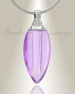 Glass Locket Violet Tears Cremation Jewelry