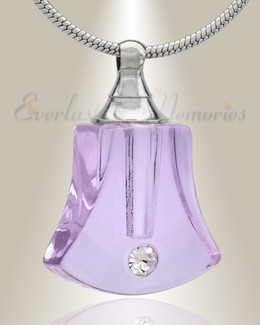 Glass Locket Violet Bells Cremation Jewelry