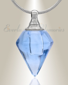 Glass Locket Blue Tops Cremation Jewelry