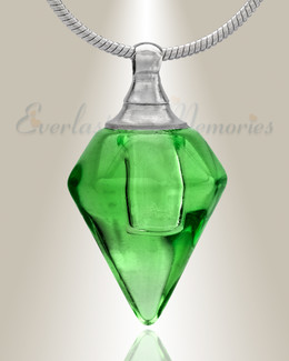 Glass Locket Green Tops Cremation Jewelry