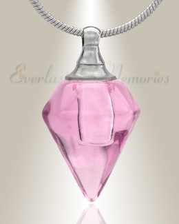Glass Locket Pink Tops Cremation Jewelry
